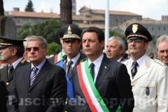 Il sindaco di Viterbo Giulio Marini e l\'assessore ai Lavori pubblici Giovanni Arena