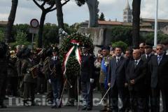 La manifestazione in piazza dei Caduti