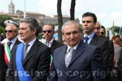 Il presidente Meroi e il questore Gianfranco Urti