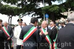Il sindaco Marini e il nuovo primo cittadino di Soriano Fabio Menicacci