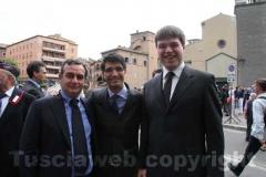 L\'assessore Vittorio Galati, l\'assessore Daniele Sabatini e il sindaco di Bassano in Teverina Alessandro Romoli