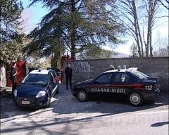 I carabinieri nelle villa del terrore