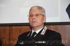 Il comandante dei carabinieri Gianluca Dell'Agnello