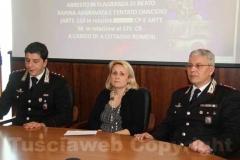 La conferenza dei carabinieri con il pm Paola Conti