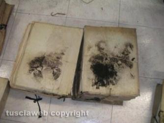 Allagamenti periodici all'Archivio di Stato, tra nubifragi e infiltrazioni