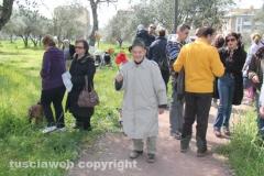 Parco a santa Barbara, i cittadini manifestano