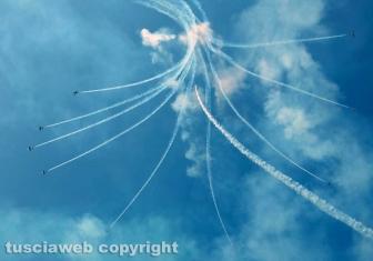 Air show a Montefiascone - Il tricolore sul lago di Bolsena