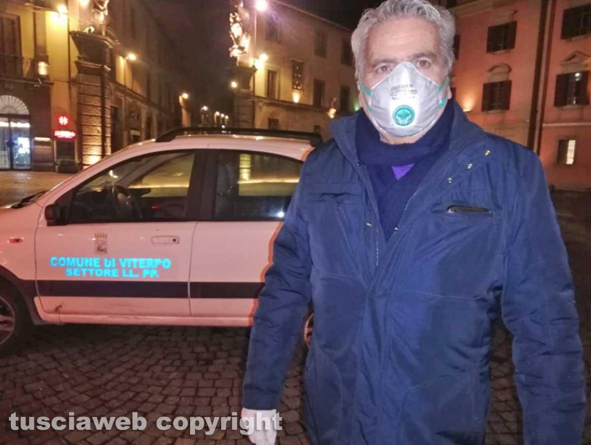 Viterbo - Al via la sanificazione delle strade della città - Il sindaco Giovanni Arena