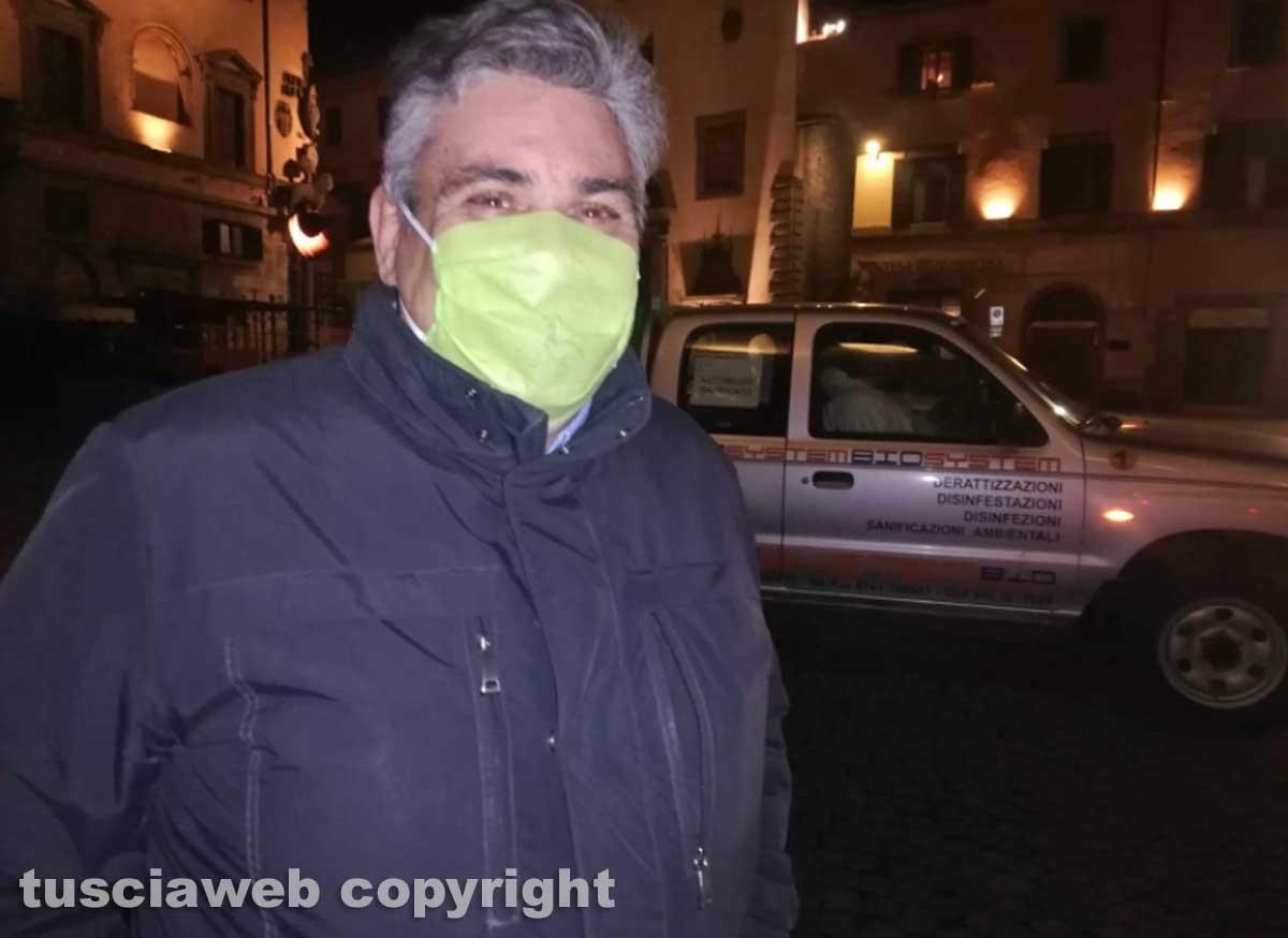 Viterbo - Al via la sanificazione delle strade della città - Paolo Muroni