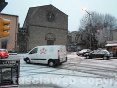 Alba con la neve a Viterbo