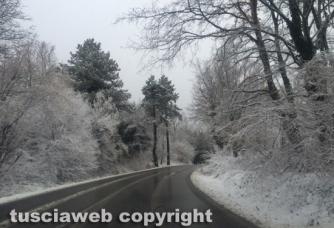 Maltempo - Neve sulla Cimina