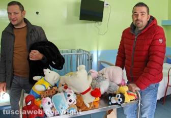 Viterbo - Alberto Mezzetti e Mammorappo a pediatria