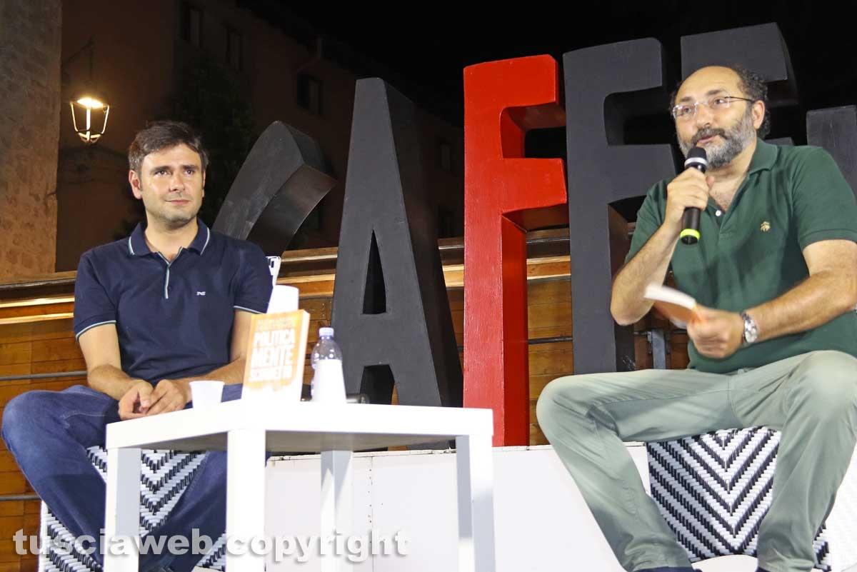 Alessandro Di Battista e Marco Lillo a Caffeina