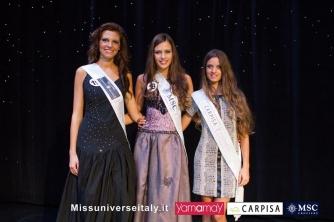 Alice Viglioglia a Miss Universo Italia - La 24enne di Ronciglione con le altre due miss premiate