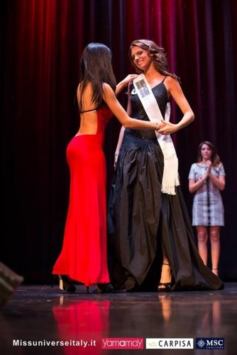 Alice Viglioglia a Miss Universo Italia - La 24enne ronciglionese riceve la fascia di Bellani Compagnia della bellezza