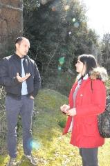 L\'assessora Ciambella con il sovrintendente Battistini