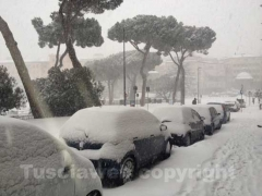 Ancora neve a Viterbo - 10 febbraio - ore 8,20