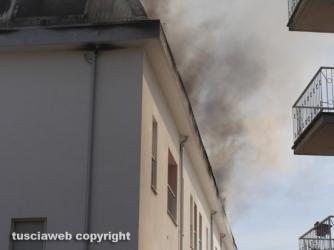Appartamenti in fiamme in centro