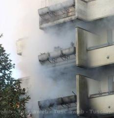 Incendio in appartamento a Capranica