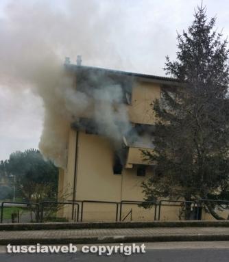 Monterosi - Appartamento in fiamme