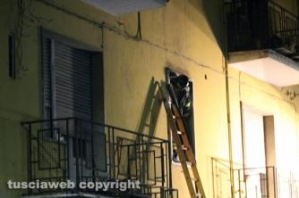 Viterbo - Appartamento in fiamme