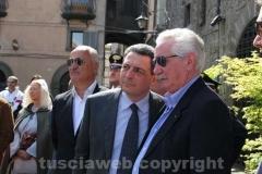 Antonio Fracassini e il sindaco Giulio Marini