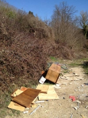 I rifiuti nell\'area archeologica Acquarossa