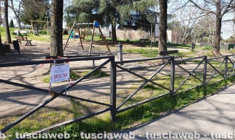 Viterbo - Coronavirus - Isolato parco in via Carlo Cattaneo