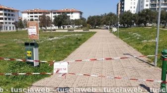 Viterbo - Coronavirus - Aree verdi isolate dalla polizia locale