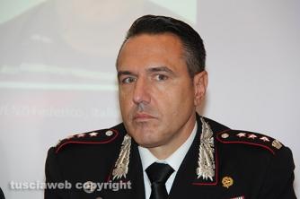 Omicidio del Riello - La conferenza stampa - Il colonnello Mauro Conte, comandante provinciale dei carabinieri di Viterbo