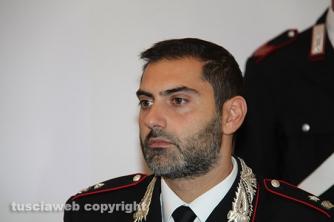 Omicidio del Riello - La conferenza stampa - Il maggiore Raffaele Gesmundo, comandante della compagnia carabinieri di Viterbo