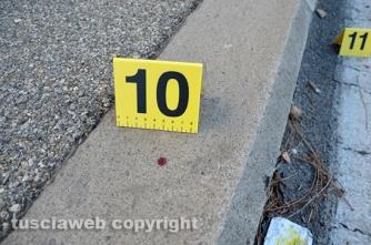 Omicidio del Riello - Le tracce di sangue rilevate dai carabinieri