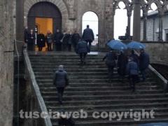 L\'arrivo di Monti al Palazzo Papale