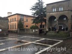 Piazza San Lorenzo dove arriverà Monti
