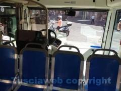 L\'interno di un bus elettrico