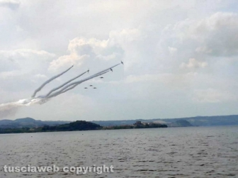 Montefiascone - Lago di Bolsena - Le prove generali delle frecce tricolori