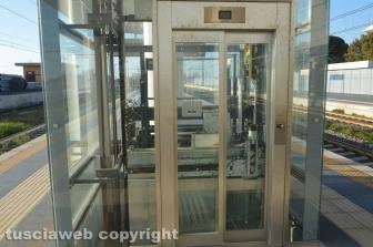 Stazione di Tarquinia - Uno degli ascensori