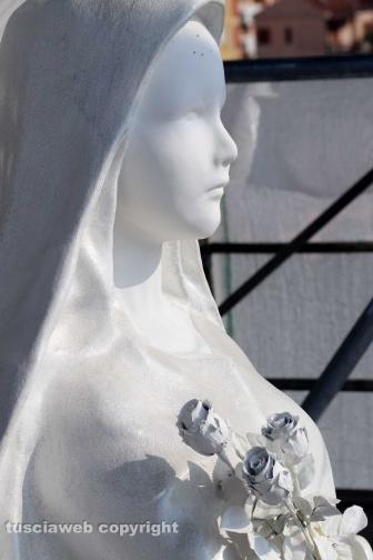 Ascenzi e la moglie Valeria sul ponteggio di Gloria