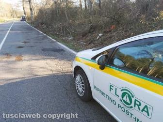 Viterbo - Incidente sulla Cimina - Il ripristino della strada