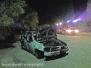 Auto in fiamme nel parcheggio del cimitero