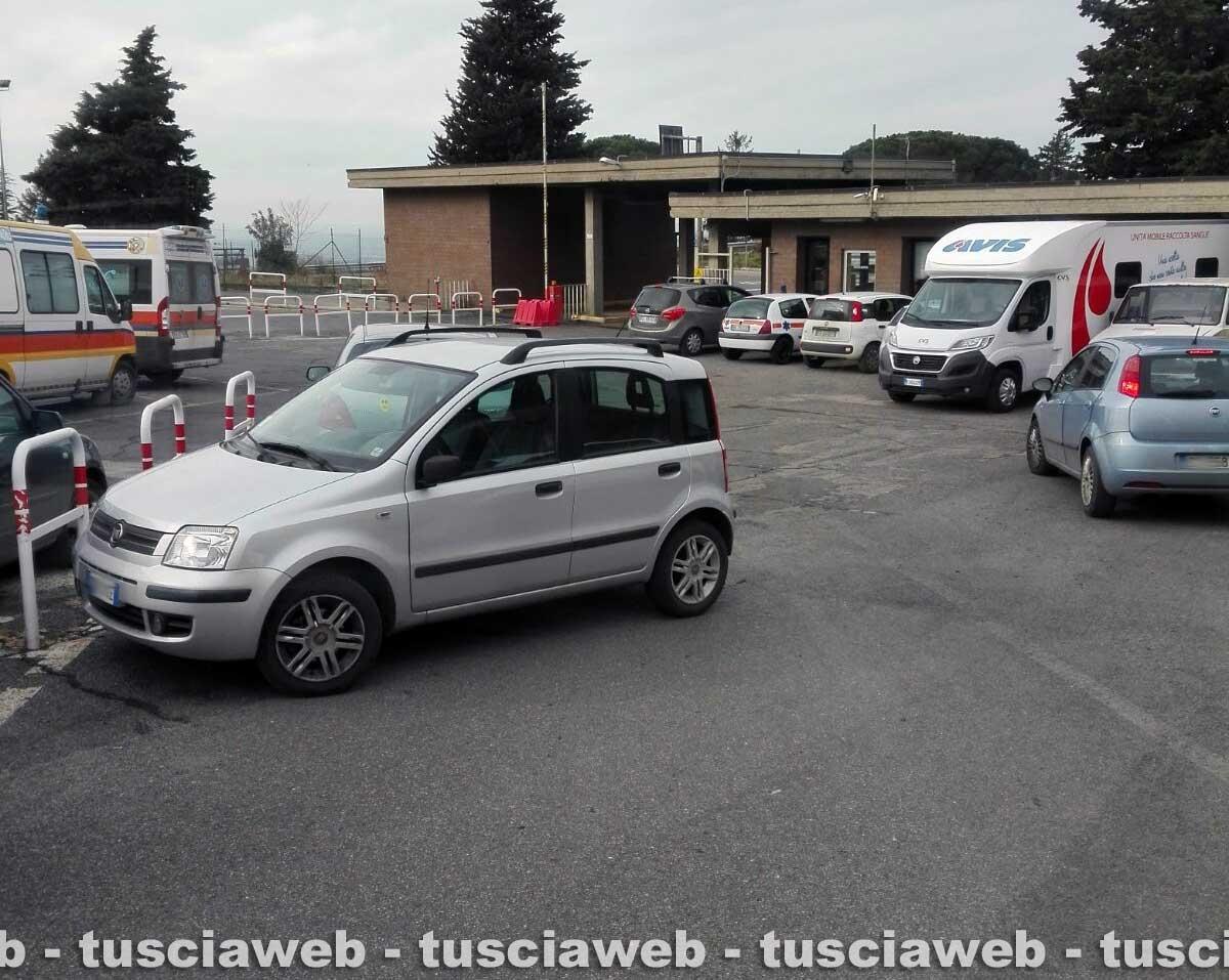 Viterbo - Il parcheggio a Belcolle
