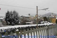 Bagnaia abbandonata sotto la neve