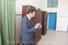 Giulio Marini al seggio