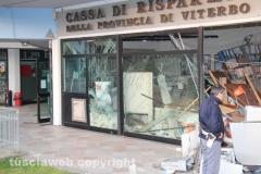 Vigili del fuoco e polizia alla filiale Carivit
