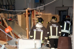 I vigili del fuoco alla filiale Carivit