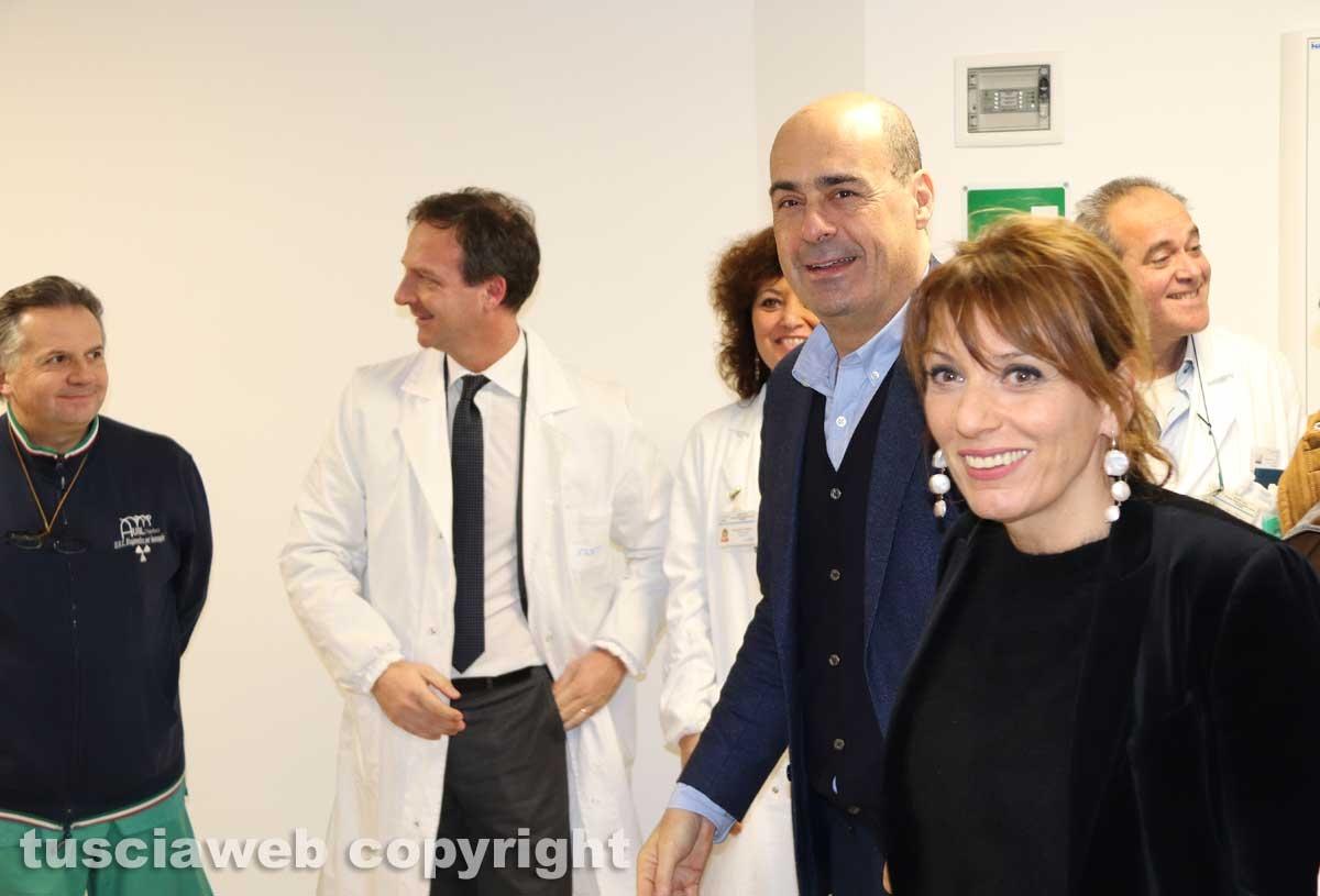Viterbo - Belcolle - Nuove sale operatorie - Nicola Zingaretti e Daniela Donetti