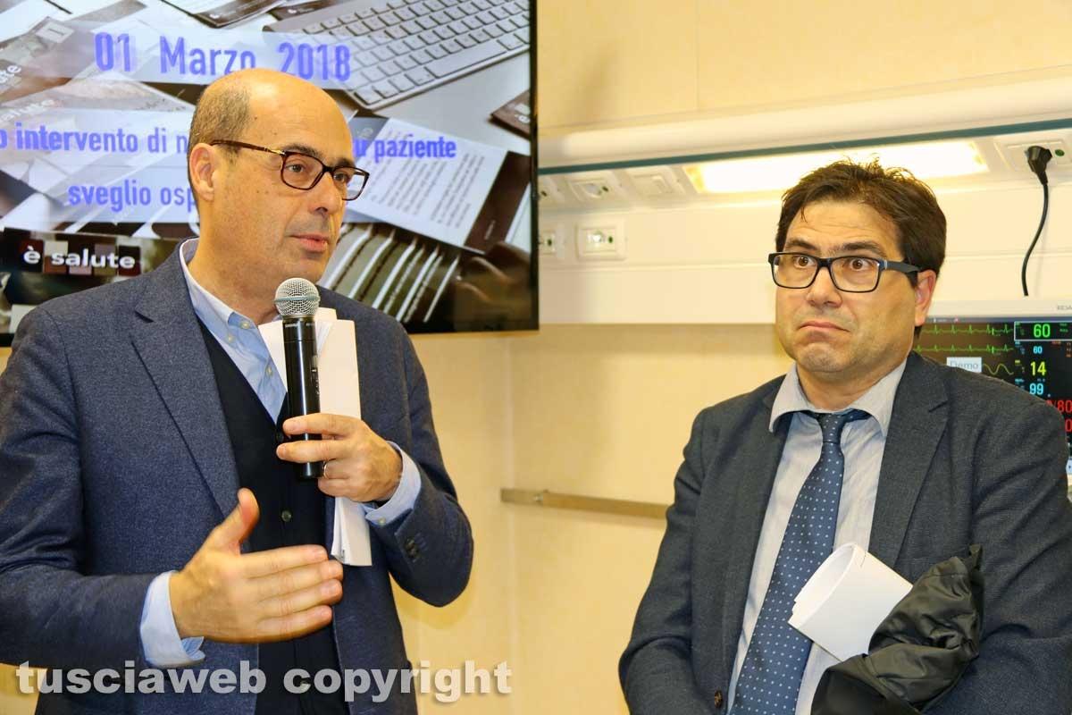 Viterbo - Belcolle - Nuove sale operatorie - D'Amato e Zingaretti