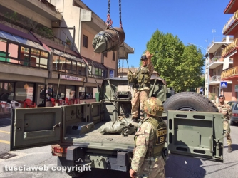 Bomba inesplosa, artificieri al lavoro