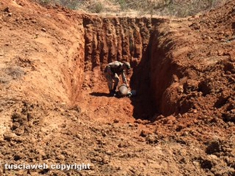 La bomba posizionata nella cava