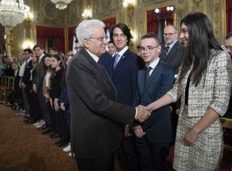 Sergio Mattarella con Chiara Bordi